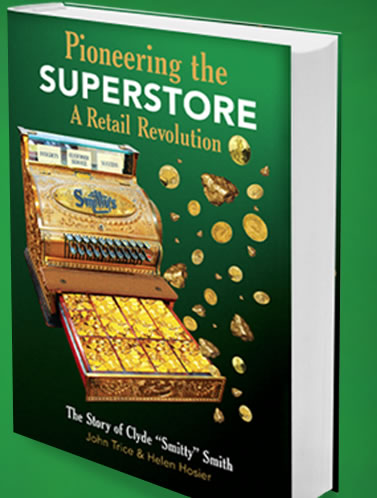 "Pioneering the Superstore traces the remarkable journey of Clyde B. Smith on the road to retail success as he developed a prototype foreshadowing Kmart, Walmart, and Target. ""Smitty"" as he is best known shares his wit and wisdom about thriving in business including listening to customers, caring for employees and vendors and taking risks in marketing."